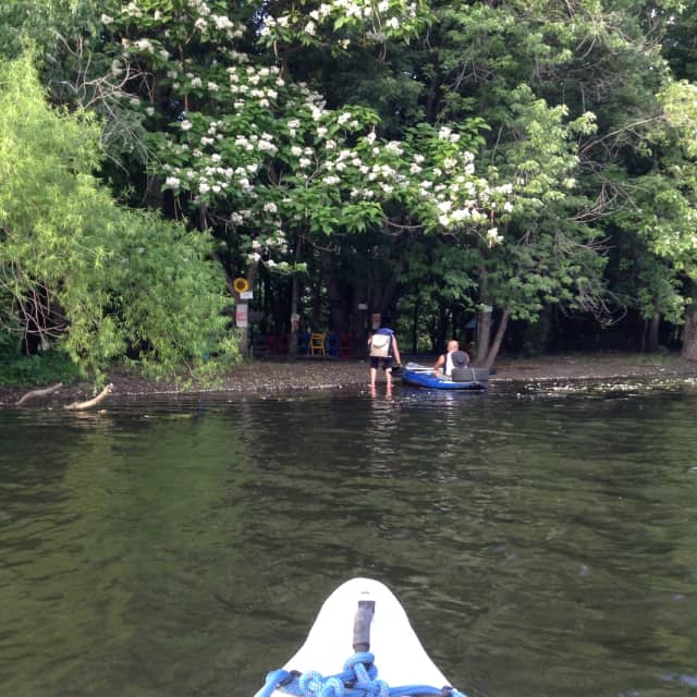 Spend part of your afternoon paddling to Rick's Island, as part of the Festival of Lights, celebrating the Passaic River and the borough's 100 years.