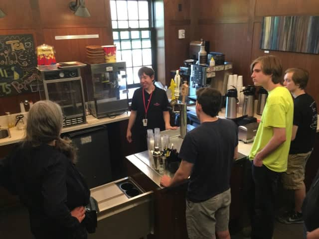 The Ridgefield Independent Film Festival (RIFF) partnered with The Prospector Theater for a training session for its high school interns.