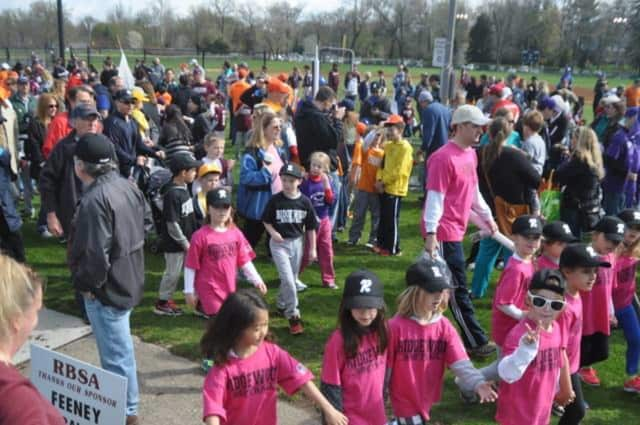 Parents and players enjoy the 2014 Little League Opening Day parade at Citizen's Park in Ridgewood, which will be renovated.