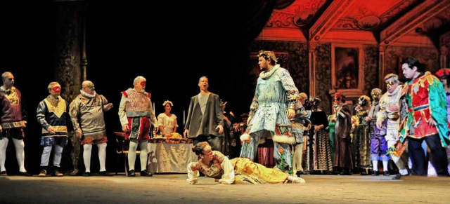 "A scene from the New Jersey Association of Verismo Opera's production of Giuseppe Verdi's ""Rigoletto."""