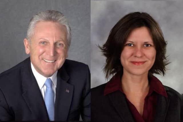 Norwalk mayoral candidates Harry Rilling and Kelly Straniti