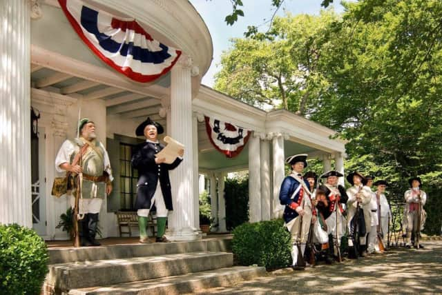 An annual 4th of July event hosted by Ringwood Manor features a reading of the Declaration of Independence.