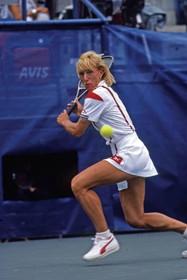 Martina Navratilova at the 1986 US Open. TENNIS Magazine.