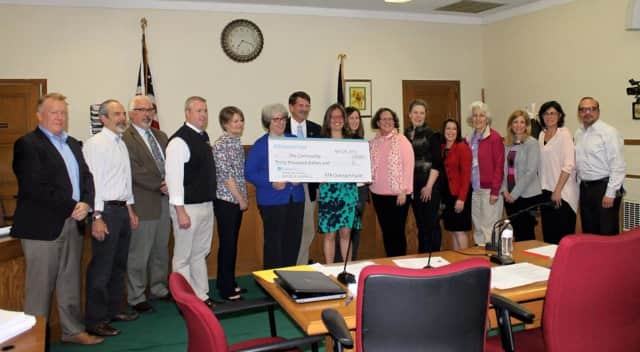 The presentation of the funds to local charities.
