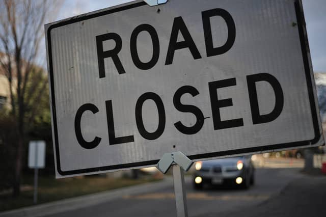 Marble Avenue between Irvington Street and Sunnyside Avenue in Pleasantville is closed Monday while workers repair a sinkhole and water main break.