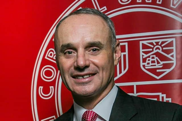 Rob Manfred of Tarrytown, commissioner of Major League Baseball, will receive the Groat Award in Manhattan on Thursday. It's one of Cornell University ILR School's top alumni honors for outstanding professional achievement and service to ILR.
