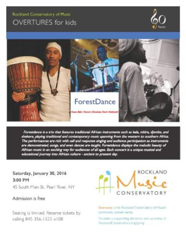 The Rockland Conservatory of Music will hold the first concert in the Overtures for Kids series on Saturday, Jan. 30.