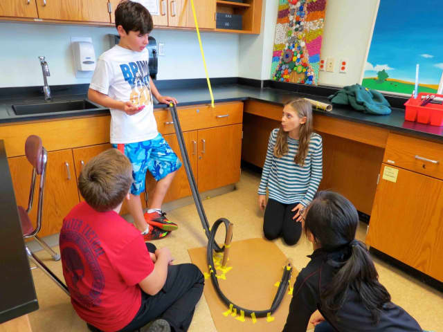 Briarcliff Middle School sixth-graders used their knowledge of energy to design models for roller coasters in science class.