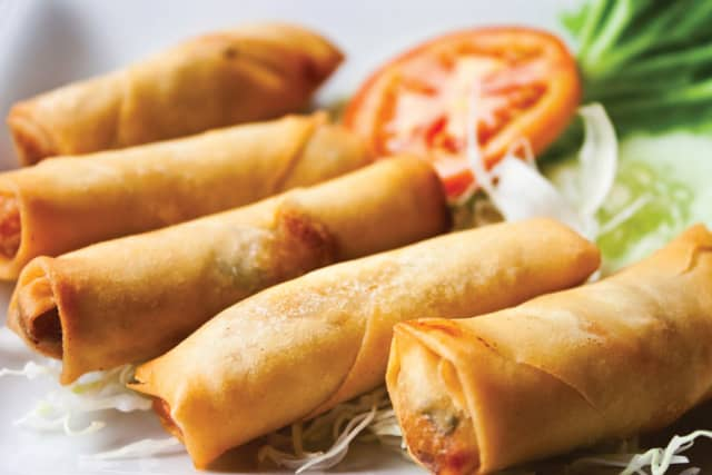 Authentic Chinese food is far different – and far more exotic – than its American cousin. Pictured here is something that many Americans can get their tastebuds around – fried spring rolls.