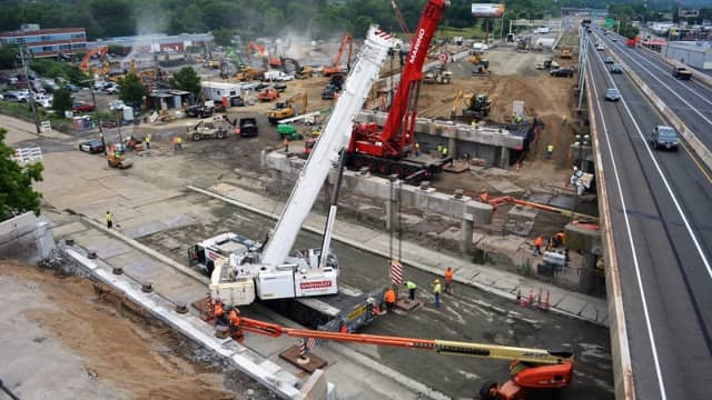 The superstructures of four bridges on Route 8/25 in Bridgeport are being replaced.