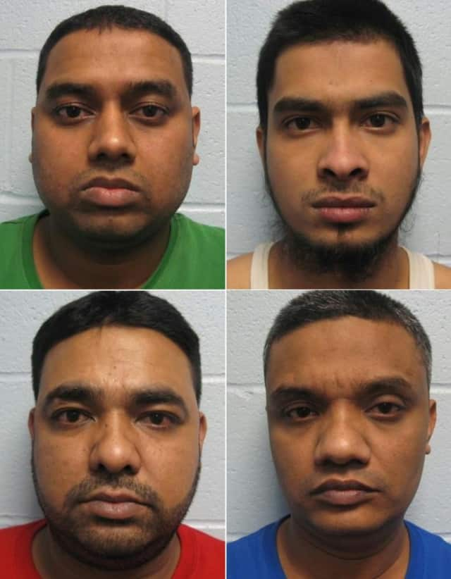 CLOCKWISE from top left: Rubel Hossain, Imtiyaj Hossain, Farid Ahammadm, Joshim Uddin