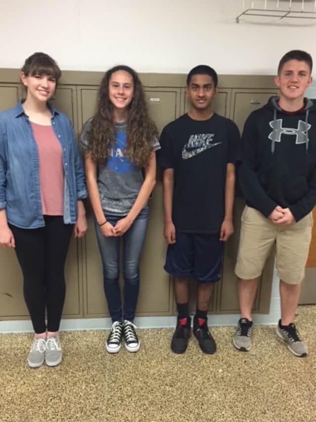 Sophomore Megan Donohue (96); freshman Madison Fahmy (96); sophomore Shyam Patel (98); and sophomore Dylan Burkhalter (98)