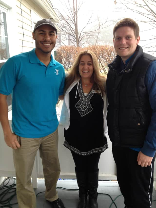 Staff members at Rye YMCA left to right: John Rice, Kelly Lewin and Brendan Smith.