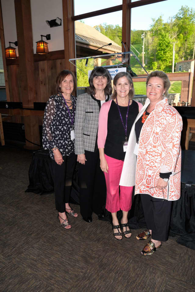 Girls' Night Out Event Co-Chairs, Terry Quint (left) and Barbara Sullivan (right) flank Mary P. Leahy, MD, CEO of Bon Secours Charity Health System and Patricia Pollio, MD, OB/GYN at Advanced Physician Services in Goshen and Suffern.
