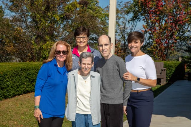 L to R: Cindy VanderPlaat; Mary Juliano, Chair of the Bon Secours Warwick Health Foundation; Susan and Glenn Dickes, Supporters of St. Anthony Community Hospital; and Amanda Levin, Regional Director of Philanthropy.