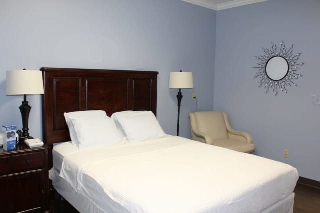 A private bedroom at St. Anthony Community Hospital's Sleep Disorder Institute.