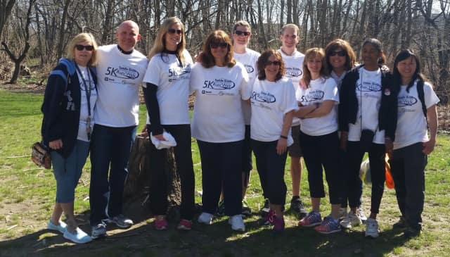 Saddle Brook Educational Foundation members after the annual 5K race