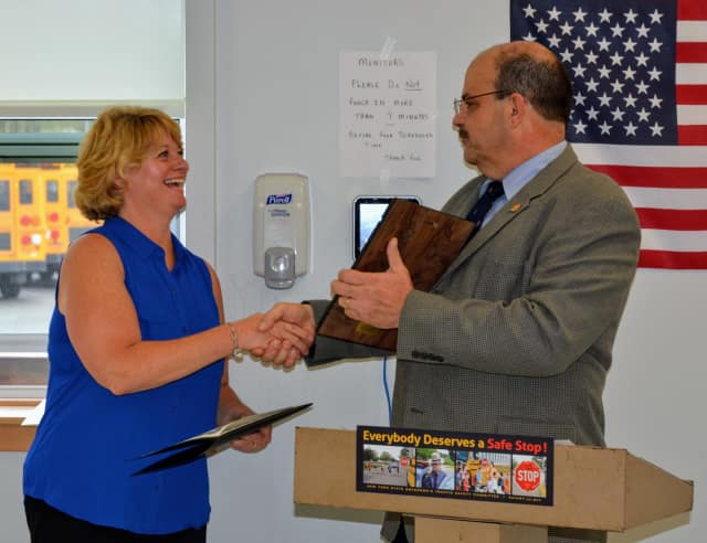 Wendy Travis was honored as School Bus Driver of the Year.
