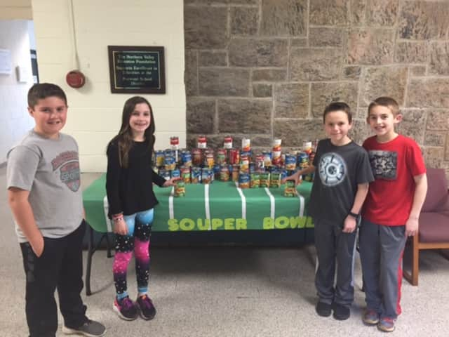 Norwood fifth-grade Student Council from left: Dylan Plescia, Cailyn Gibbons, Eddie Sullivan and Andrew Pinkus.