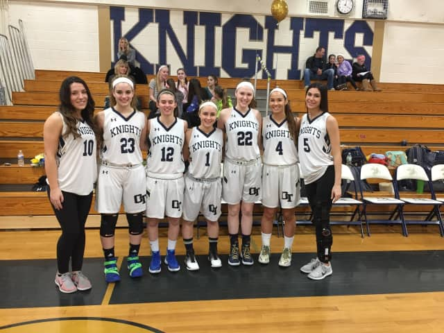 From left: Alexie Piccinich, Ashley Sullivan, Maia Levenshus, Emily Crevani, Kailyn Sytsma, Kelsey McLaughlin, and Ariana Chipolone.