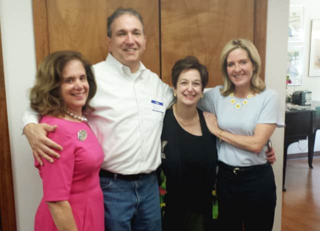 From left: Debby Crane, Ridgewood Mayor Paul Aronsohn, SHARE Board President Jan Phillips and Gwenn Hauck.
