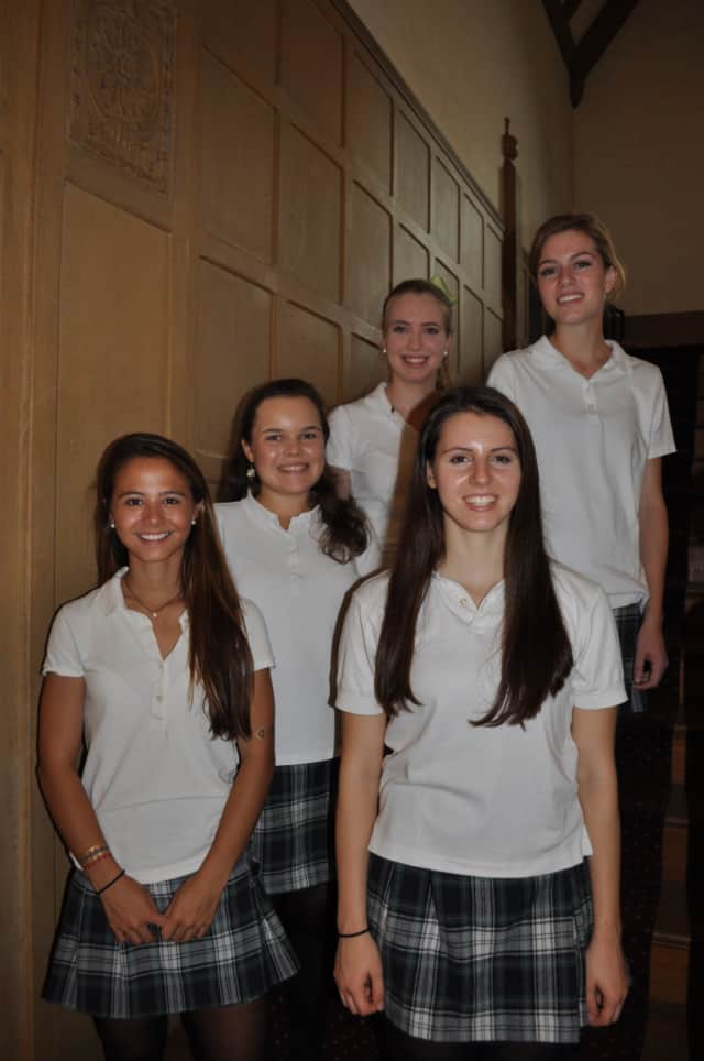 Five students from School of Holy Child have been named Commended Students in the 2016 National Merit Scholarship Program. Bottom: Mercedes (Miffy) Riley and Annemarie Altomare. Middle: Caitlin Panatela Back: Mary McAllister and Anna Liddy.
