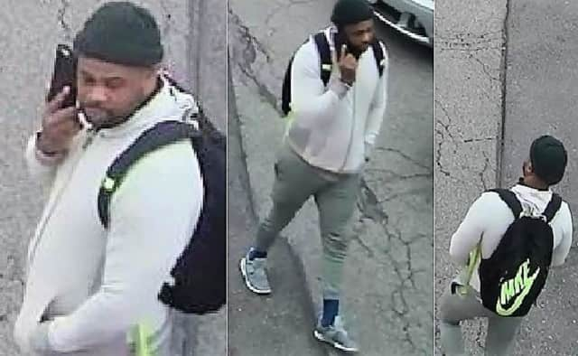 Anyone who sees or recognizes the suspect in these photos is asked to call either South Hackensack PD: (201) 440-0042 or  Maywood PD: (201) 845-2900.