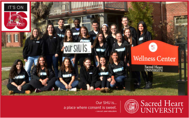 """Sacred Heart University has joined the """"It's On Us"""" campaign to combat sexual assault."""