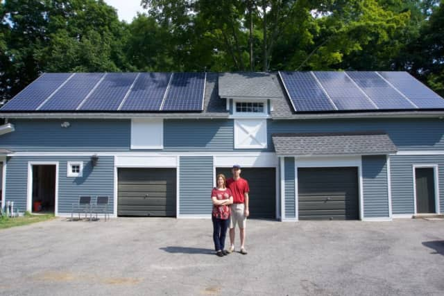 Solarize Somers/New Castle has reduced prices due to the number of people signing up for the program. Peter Martin and Kendal Sandlin of New Castle said they love the look and are happy with the installation.