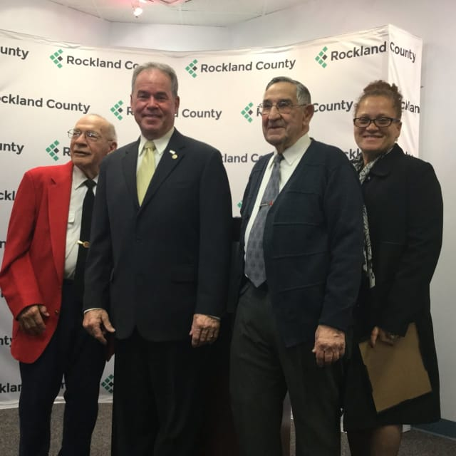 From left, Stuart Gates, County Executive Ed Day, Al Magnatta and Ramona Jaime.