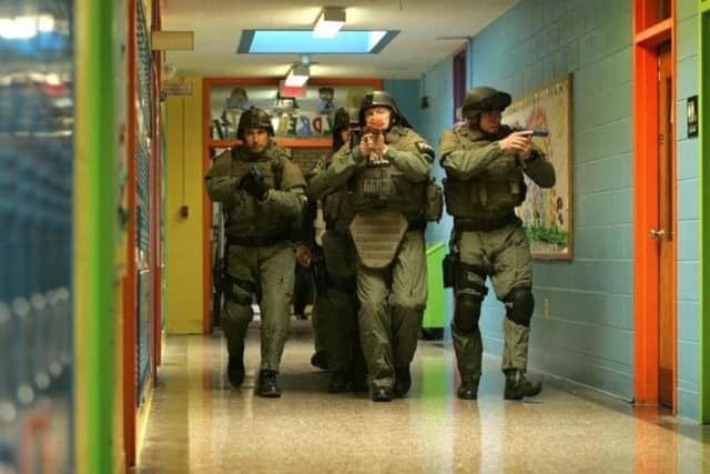 A previous active shooter drill at Walter Panas High School in Cortlandt.