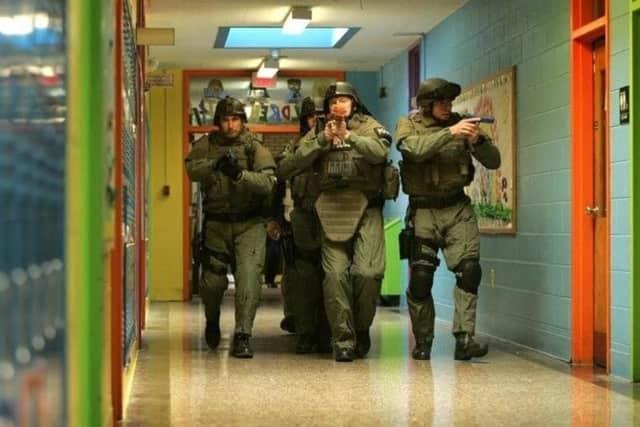 A previous active shooter drill at Walter Panas High School in Cortlandt.