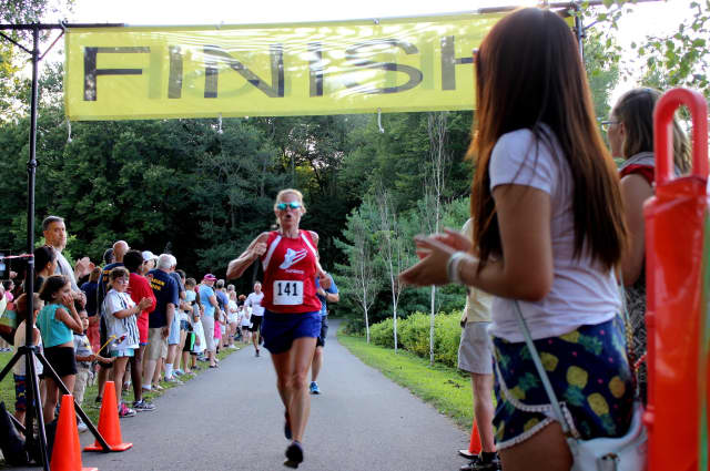 The Sunset Run in Trumbull draws big crowds of runners every year.