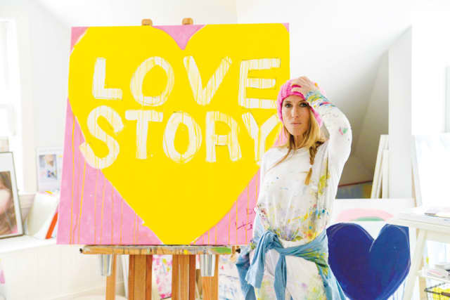 Kerri Rosenthal in her art studio. Coley Stevens for Kerri Rosenthal photographs.