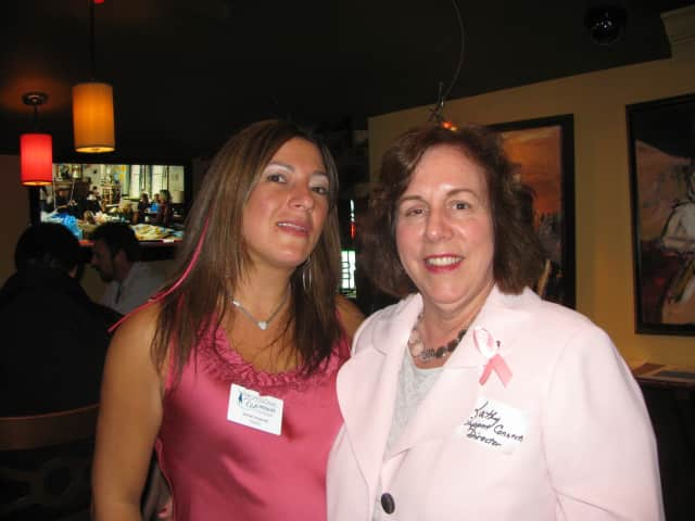 Jamie Imperati, president of Professional Women of Westchester, and Katherine Quinn, Support Connection program director.