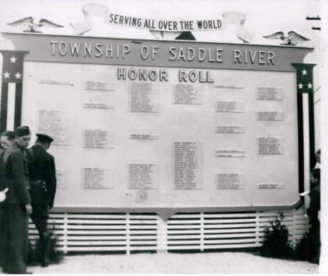 Saddle Brook is celebrating its 300th anniversary this year. Pictured is the Township of Saddle River Honor Roll erected in 1942.