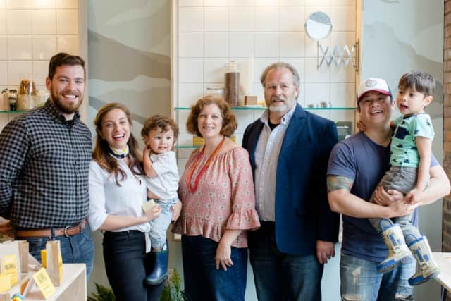 The Austin family, owners of Beacon-based SallyeAnder Soaps.