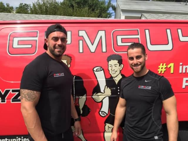 Sam Langer, right, and Jimmy Bonavita are childhood friends who launched GYMGUYZ, a mobile fitness training business that works with clients at their homes and offices.