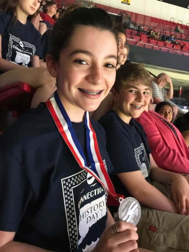 Unquowa School students Samantha Renzulli won a major award at the National History Day contest.