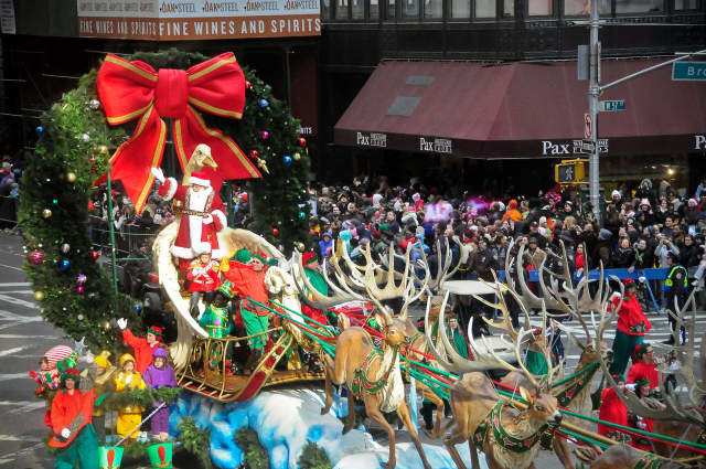 Santa Claus is the highlight of the annual Macy's Thanksgiving Day Parade. Metro-North is offering extra trains for parade-goers on Thursday morning.