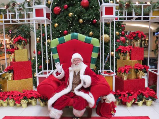 Santa Claus at the Palisades Center Mall.