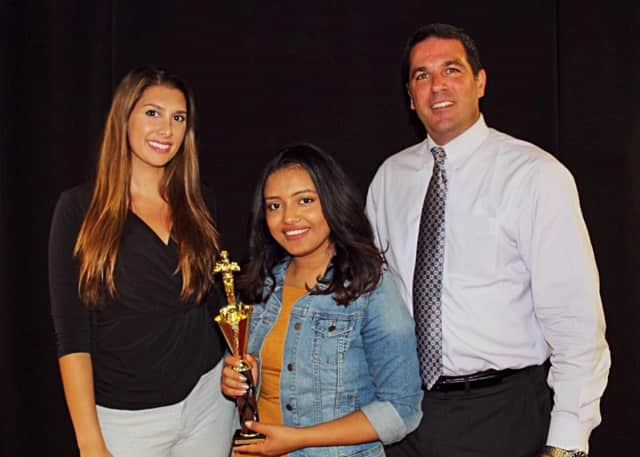 Sarai Cruz won first prize in her category at a statewide film competition.