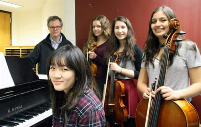 Scarsdale High School piano quartet set to perform at the Lincoln Center Society's annual competition for high school chamber ensembles on Thursday, April 14, in Alice Tully Hall.