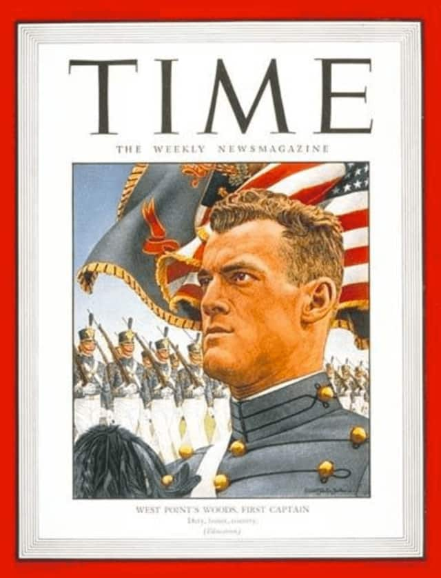 Robert Evans Woods was featured on the cover of Time magazine as a West Point cadet.