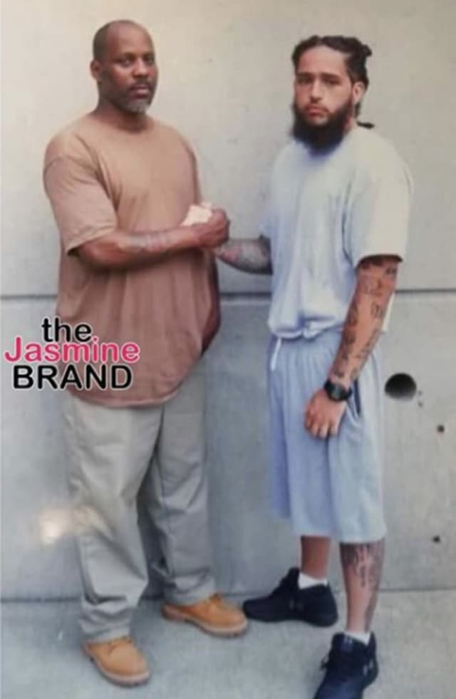 DMX (Earl Simmons), at left, with unidentified inmate.