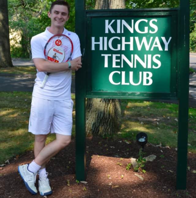 Luke Robbins in the 10 and under coach at Kings Highway Tennis Club in Darien.