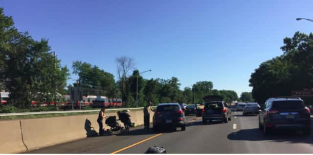 An accident close to Exit 3 in Greenwich on Interstate 95 around 9 a.m. Wednesday tied up traffic. There was no information on injuries.