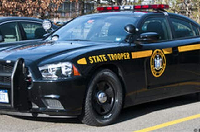 New York State Police arrested a Rye man on DWI charges after he struck a guard rail on the Taconic State Parkway.