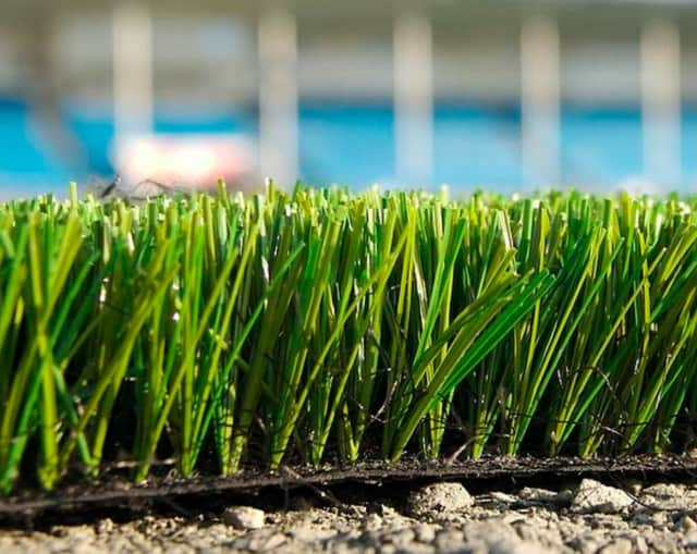 New organic turf fields have been installed at the Pleasantville School District's practice facilities.