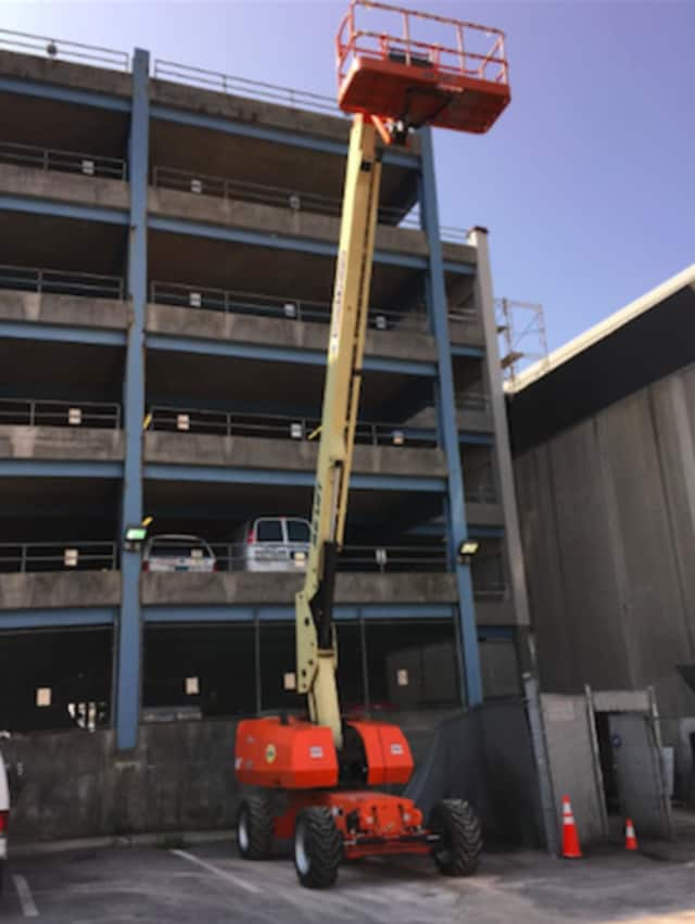 """An individual decided to use this """"scissor left"""" to get to his or her vehicle parked on the fifth floor of the Bell Street parking garage early Sunday morning, police said."""